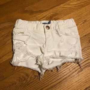 Old Navy Distressed White Shorts